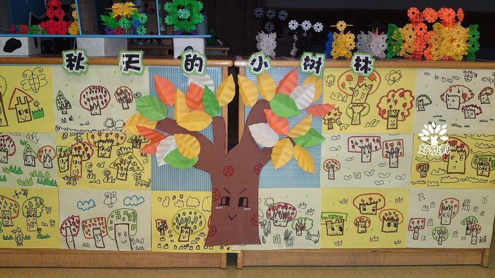 主题墙的环创,也是一种非常好的教育孩子们的办法,让他们感受到秋天的图片