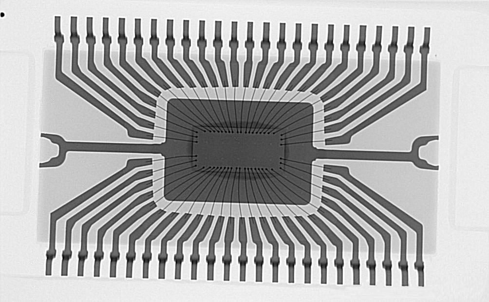贴片TSSOP-48封装的芯片在X-RAY下的景象