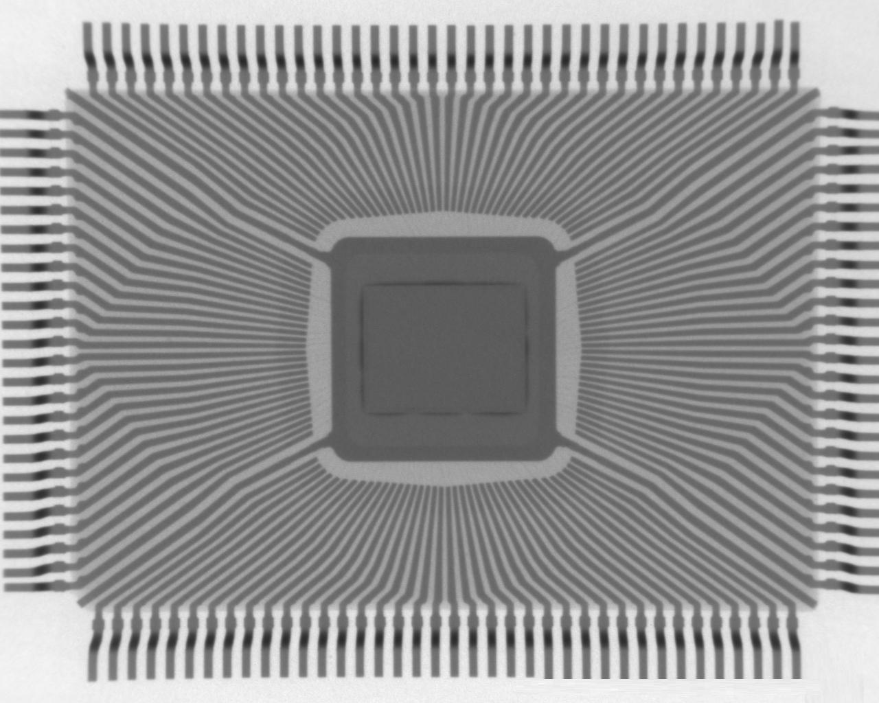 PQFP-128封装芯片在X-RAY下的景象