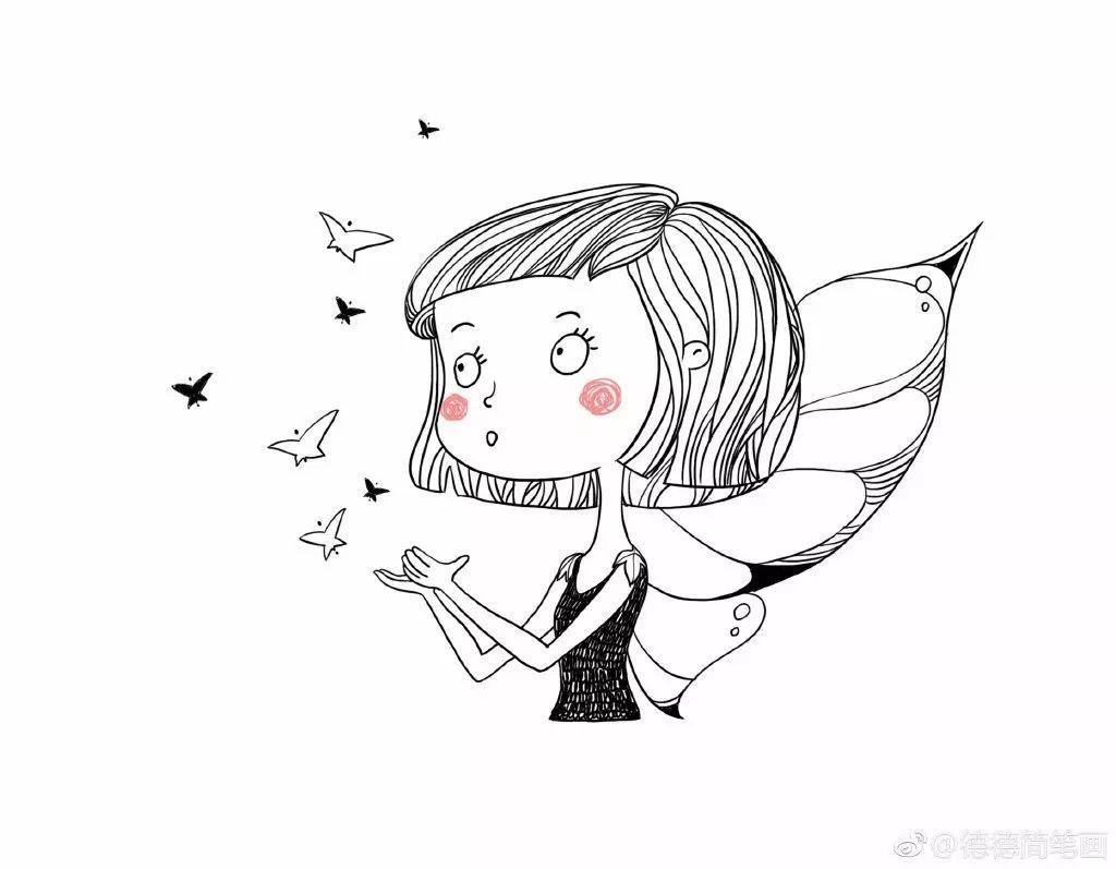 简笔画教程 | 蝴蝶小精灵