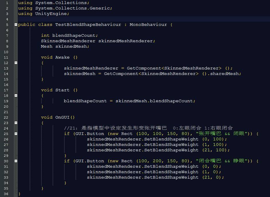 专栏作家] Unity3D -Blend Shape初识(五)