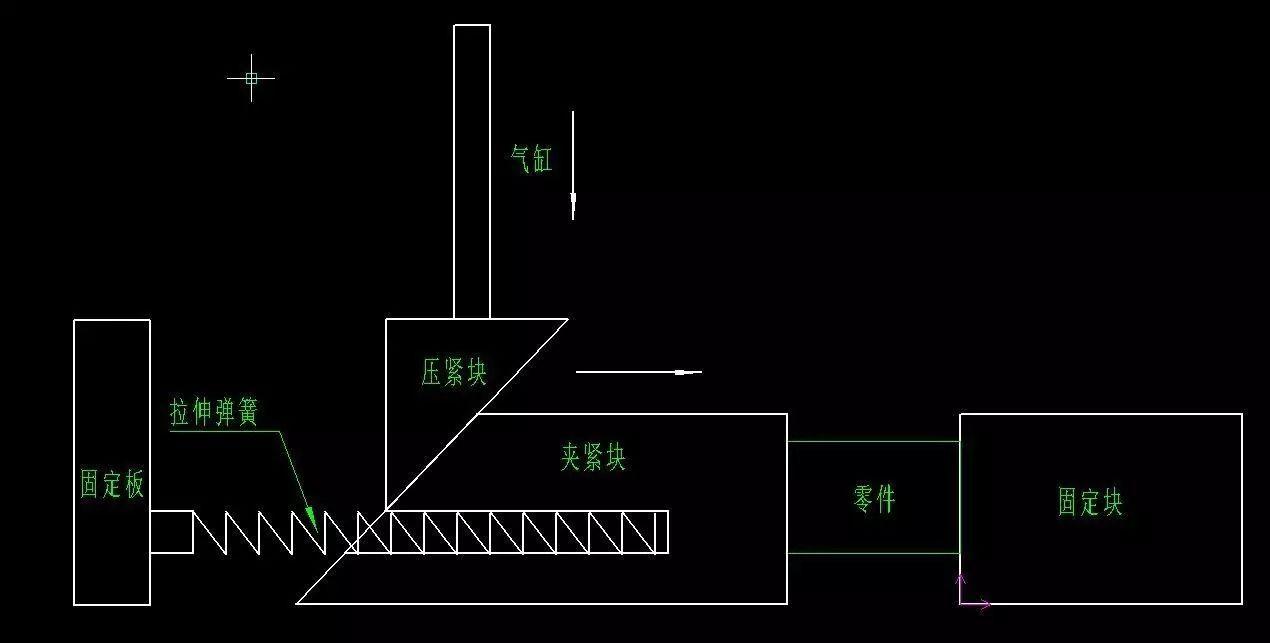 b50蛋轮原理结构�_设计的斜锲夹紧机构,在回程那一块遇到卡壳