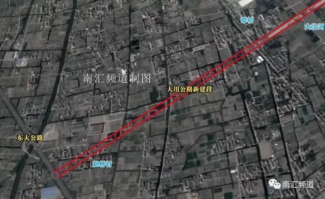 以实际建设为准)                鹤立东路(沪南公路--s3公路)   航头