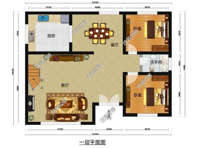 10套3层简欧式农村别墅,含平面图,三合院四合院我们梦里见