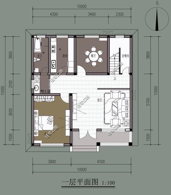 10套3层简欧式农村别墅,含平面图,三合院四合院我们梦
