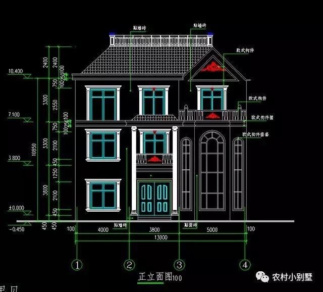 建 筑 图: 建筑设计说明,工程做法,一层平面图,二层平面图,三层平面图