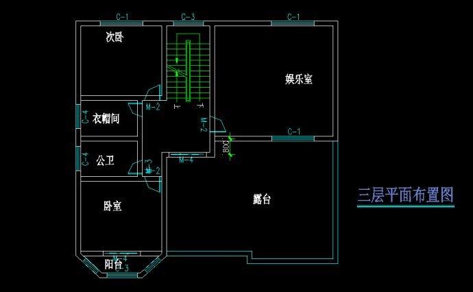 法式三层别墅设计图纸新农村自建房施工图 欧式二层半