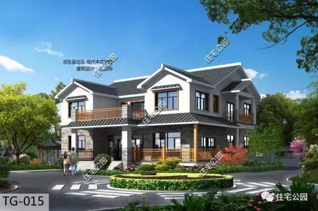 14套中式合院别墅,这才是中国农村该建的房子,如此图片