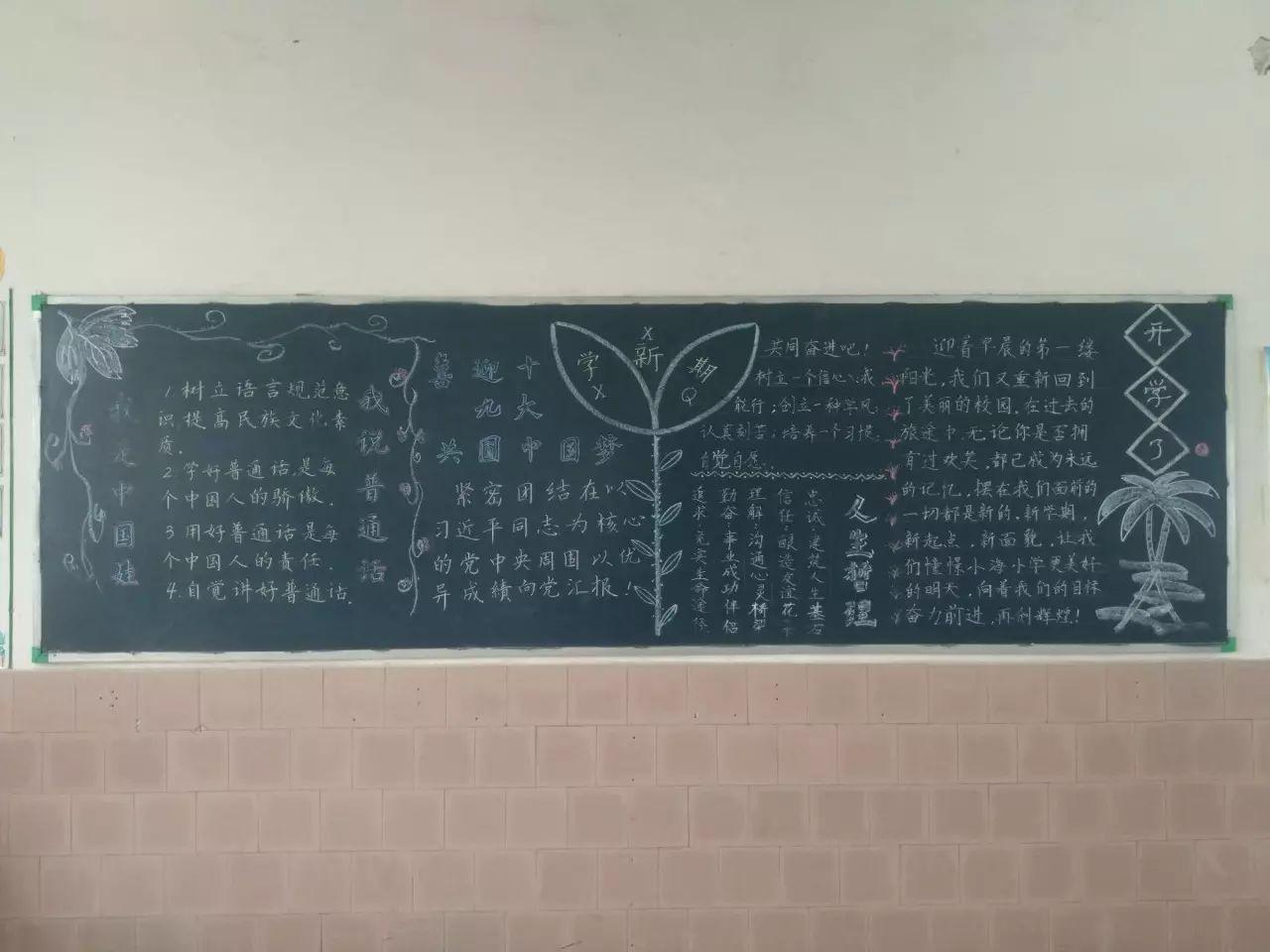 创建文明城市的中学黑板报,精美图片