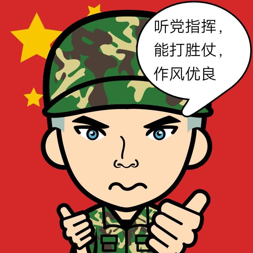 军人卡通萌头像
