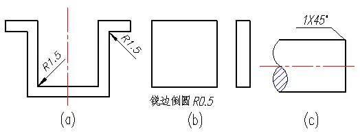 机械制图中常用的图纸简化画法,相当适合初学者