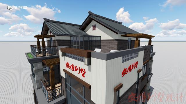 新中式农村自建别墅设计,建出你想要的高贵和大气