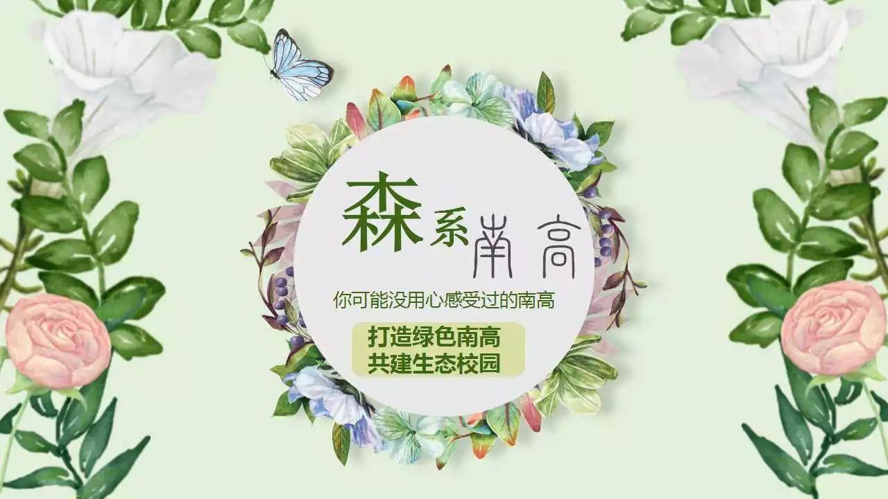 ppt文艺清新森系边框