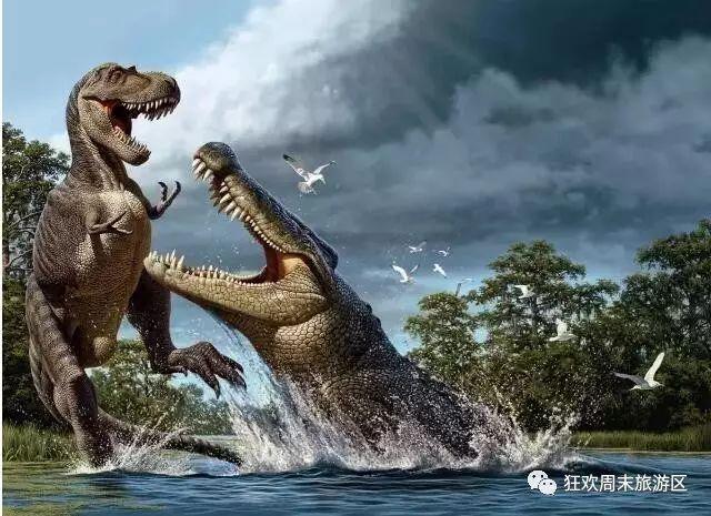 恐龙鳄鱼大战