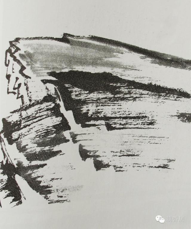 山水画基础技法:名家山石的各种画法及皴法详解图片