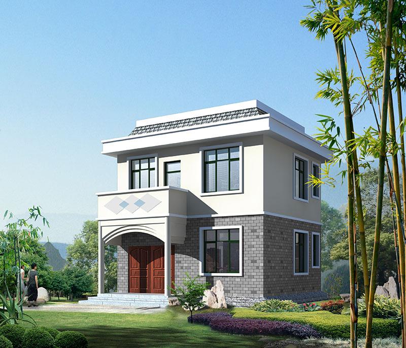 二层90㎡简约农村小别墅,只要合理布局,小户型也能设计大空间