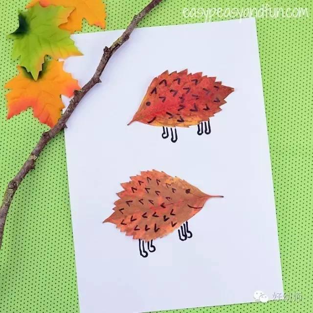健康 正文  普通的小树叶叶可以在美术课上发挥大作用,看看下面这个小图片