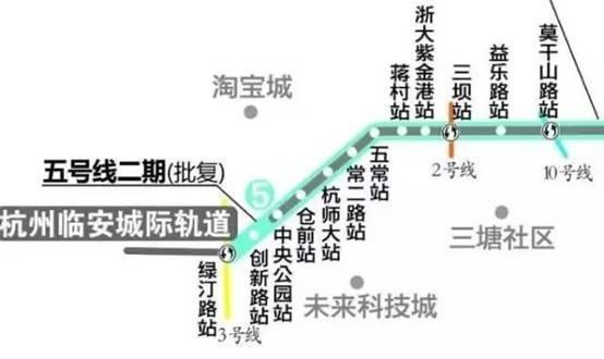 杭州地铁5号线二期线路图图片