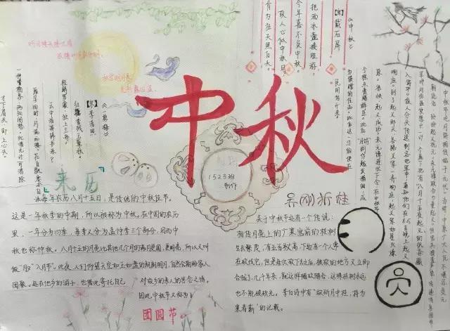 小学生中秋节手抄报与黑板报大全,近50张图片每一张都是精选!