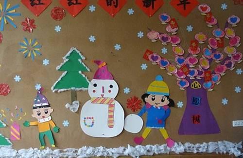 正文  冬天主题墙环创 幼教是个圆 幼儿园管理,幼教经验,游戏,手工,环图片