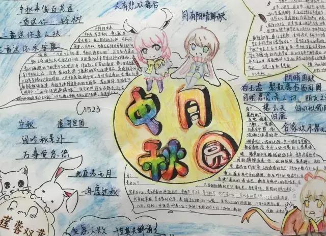 小学生中秋节手抄报与黑板报大全,近50张图片每一张都图片