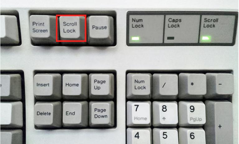 鍵盤上沒有scrolllock