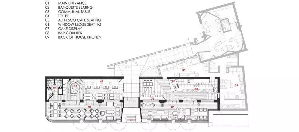 ▼粉兔餐厅平面图