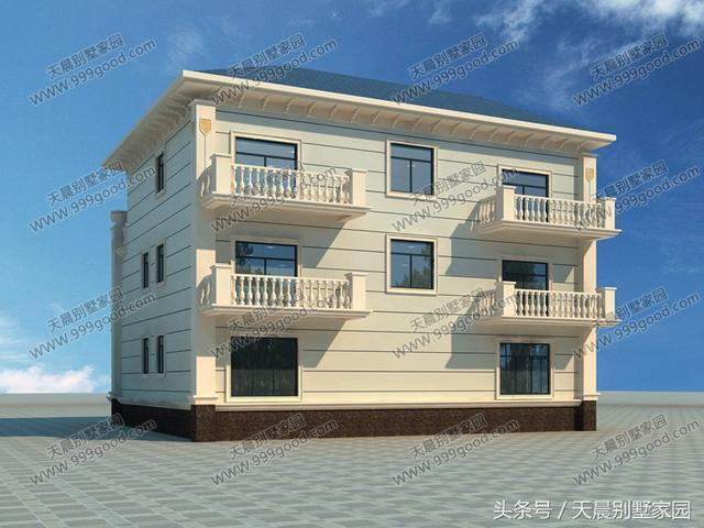 别墅为独栋三层别墅设计图,总共有10间卧室,因为房屋面积较大,所以