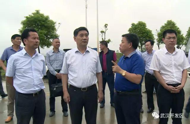 9月20号下午,武汉开发区管委会主任彭浩带领区党政办,建设局,环保局