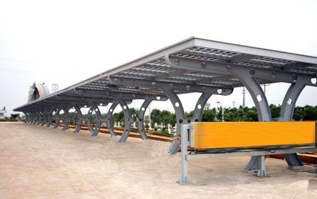 钢结构自行车棚固f�_经久耐用的钢结构车棚
