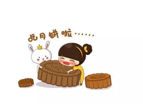 创意月饼卡通简笔画