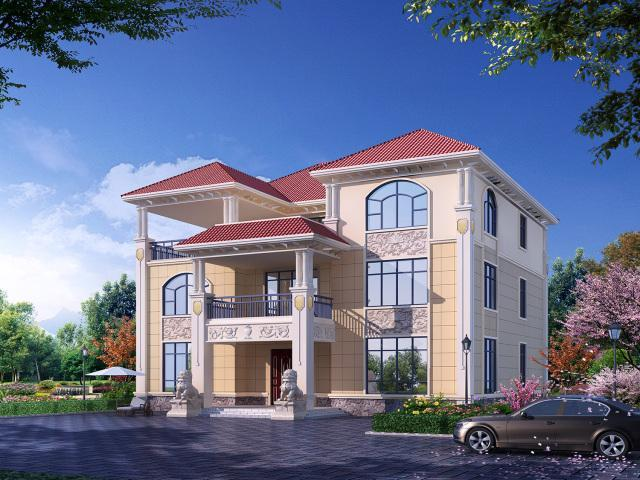 2w 建筑结构:框架 区域设计机构:建房别墅 图纸中心 该建筑采用纯欧式
