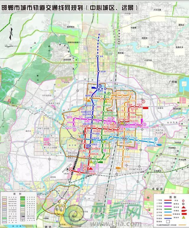 在网络上广为流传的邯郸轨道交通规划图