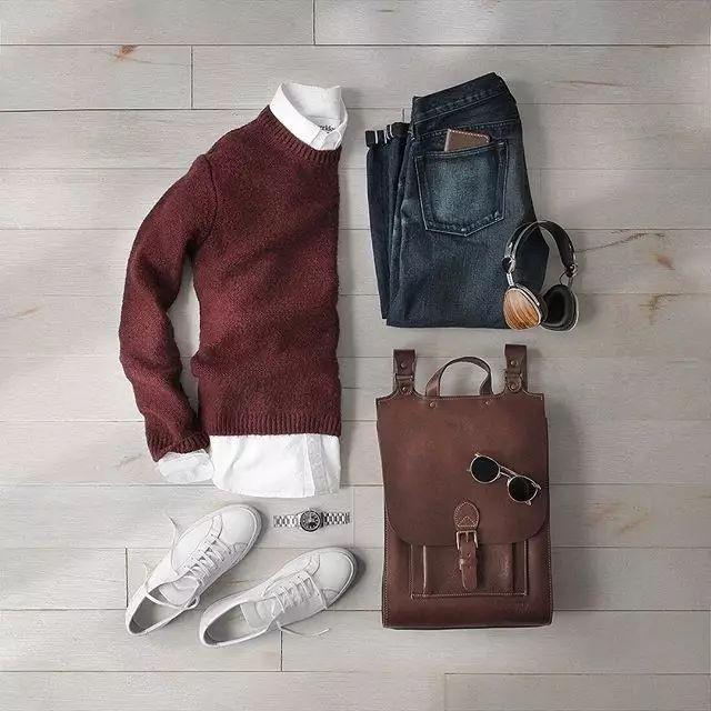 秋季男生的毛衣搭配 