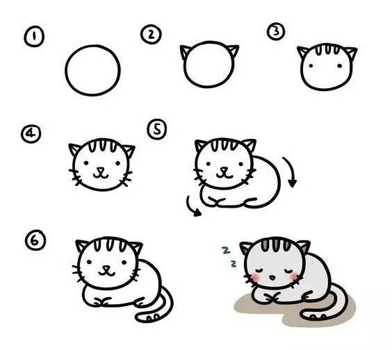 可爱小猫简笔画怎么画