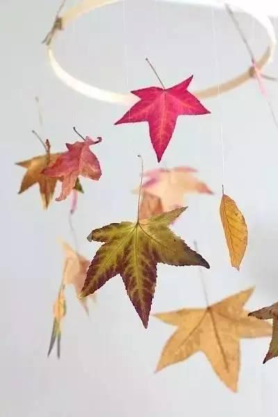 铃铃铃,送你一串美丽的秋叶风铃