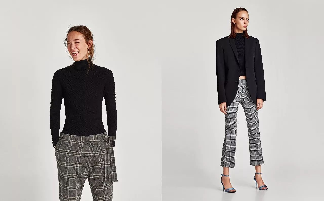 时尚 正文  天气再冷一点就可以穿大衣了,不想爆款格纹西装上身的你