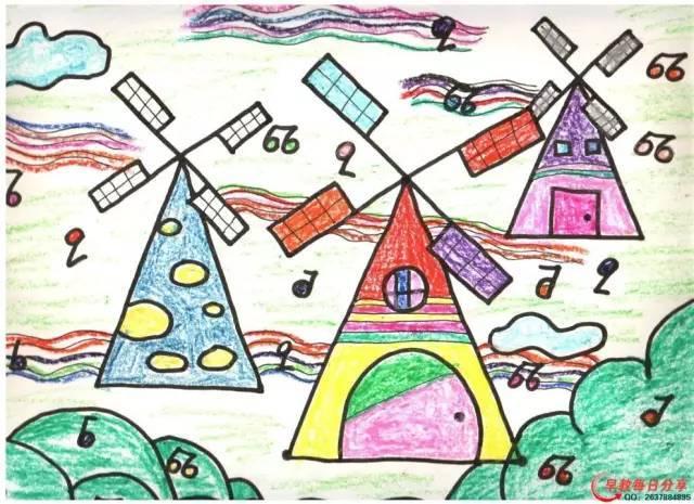 美术课必备范画,小朋友的作品太漂亮了图片