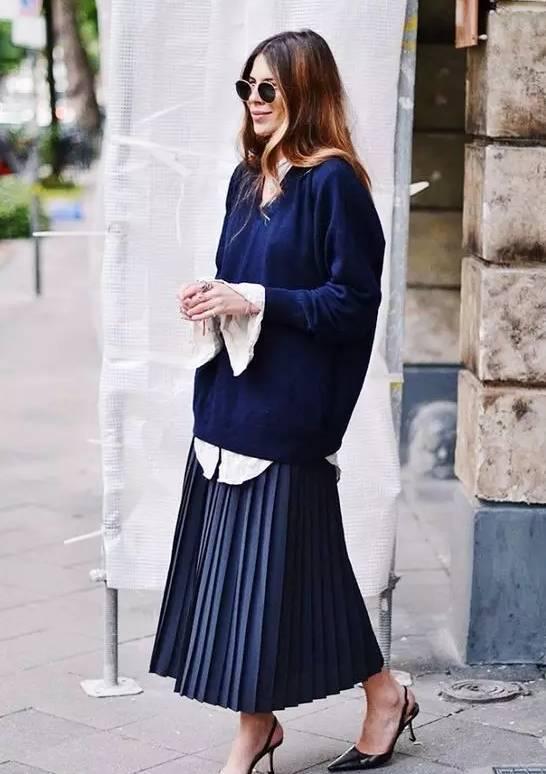 高圆圆的这款百褶裙,她们穿的正美时! 15