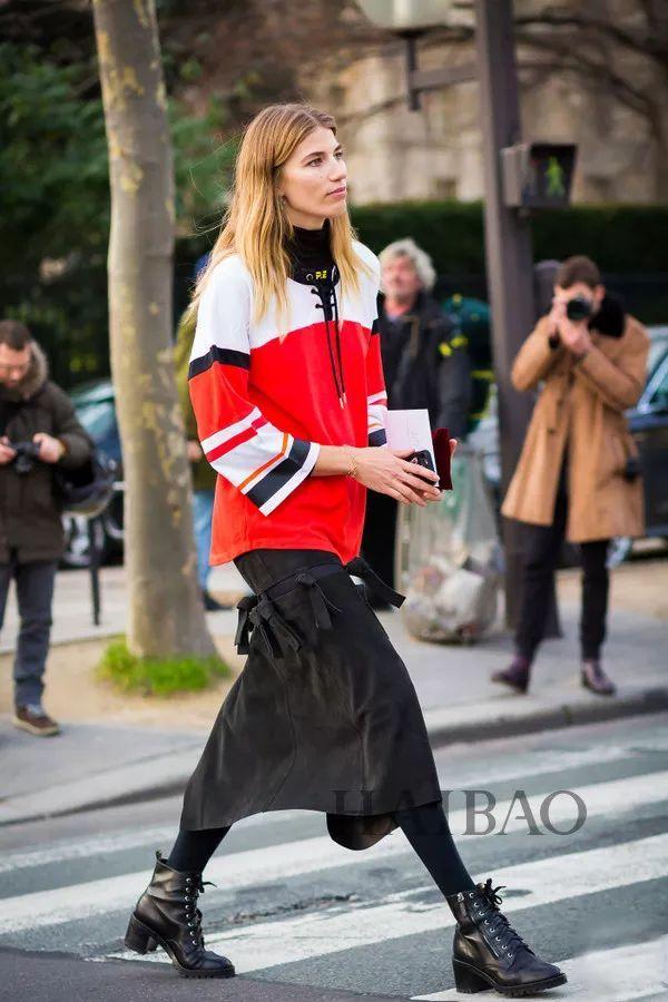 秋季要穿长裙+短靴,又仙又帅好看到犯规! 12