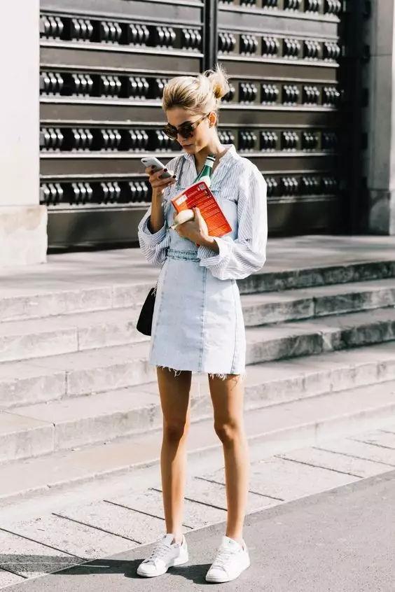 裙子+平底鞋,刘雯教你穿出超模范儿! 6
