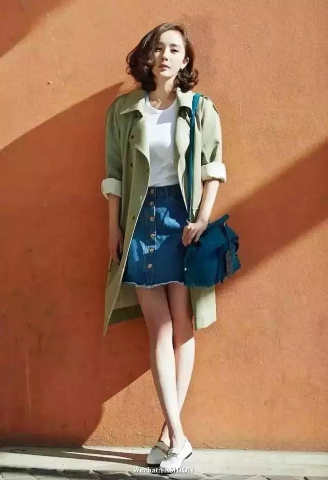 风衣+裙子,时髦又有女人味! 6
