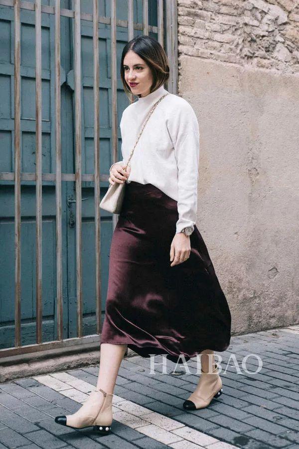秋季要穿长裙+短靴,又仙又帅好看到犯规! 11