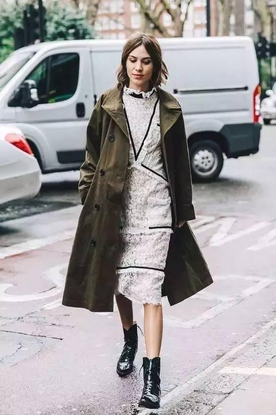 风衣+裙子,时髦又有女人味! 29