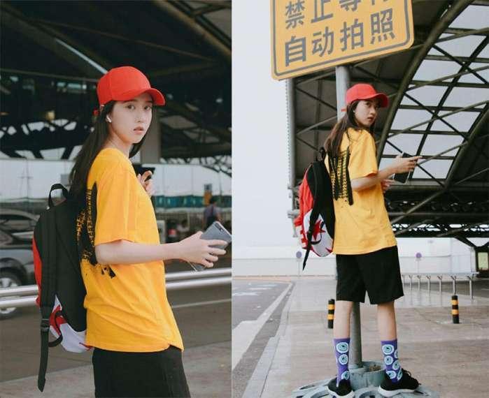 99后小花李凱馨开学季穿搭显清纯, 网友: 萌妹子迷倒我了!