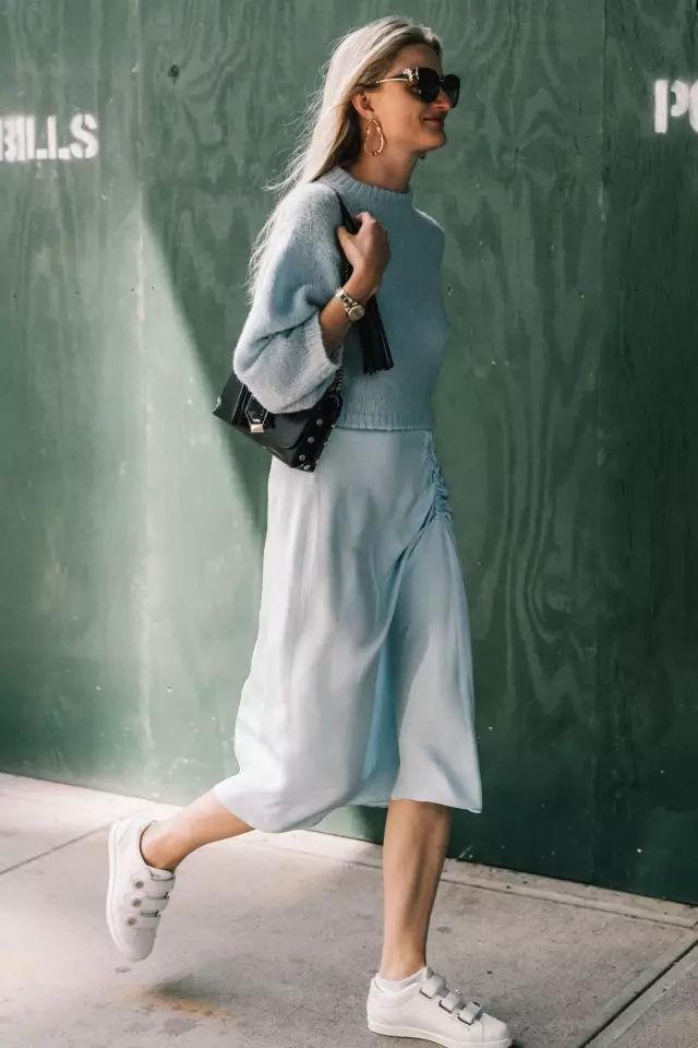 裙子+平底鞋,刘雯教你穿出超模范儿! 8