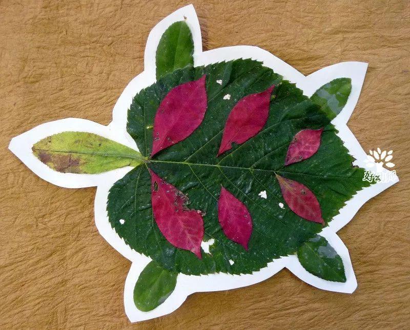 孩子一学就会的种子粘贴画和树叶粘贴画,材料简单图片