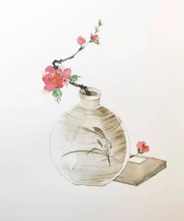 插花瓷瓶,你期待的古风手绘来啦
