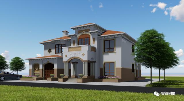 农村欧式别墅设计图纸,原来土豪们都是住这种别墅