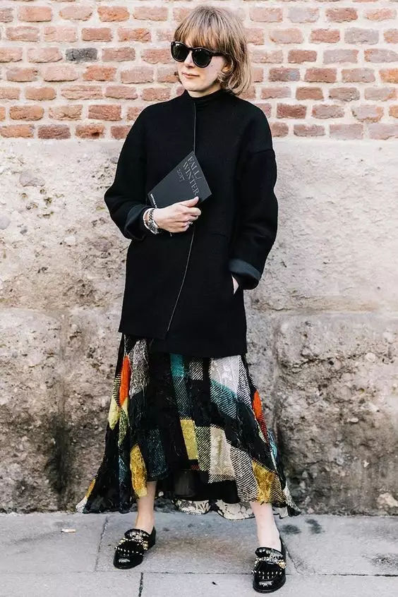 裙子+平底鞋,刘雯教你穿出超模范儿! 9